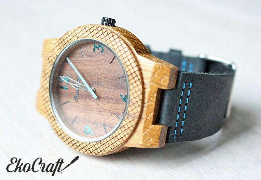 Drewniany zegarek WALNUT EAGLE OWL - walnut eagle owl 2