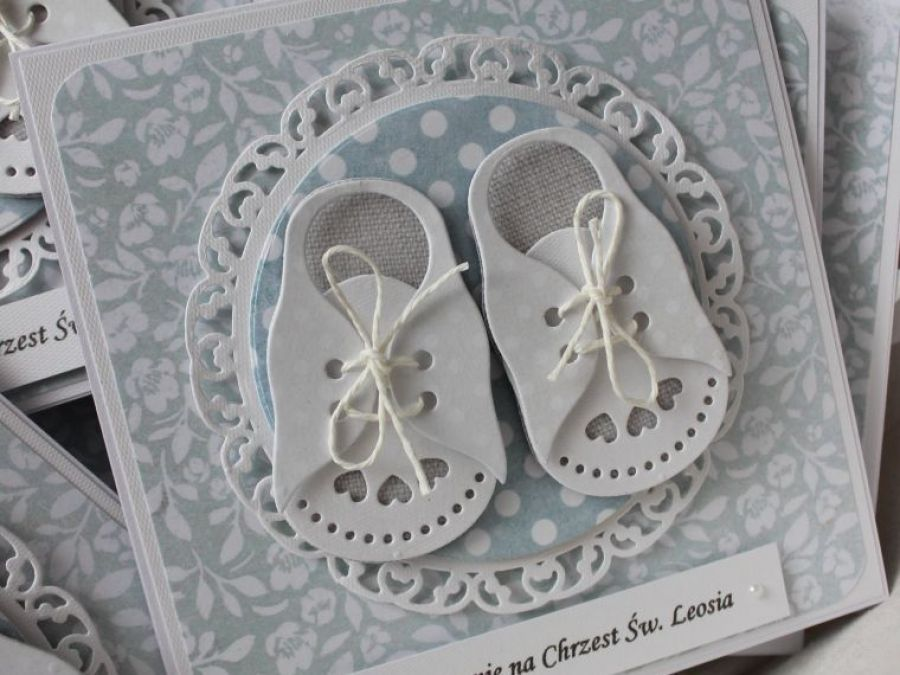Zaproszenie Tiny Little Shoes - Front