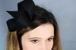 Czarny fascynator, 13cm