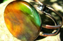 Kolory jesieni i stare złoto - okazała bransoletka