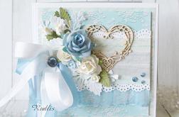 Kartka ślubna z sercem v.2