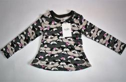 Bluzka tunika dla dziewczynki rozmiar 92