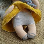 ANIOŁEK lalka - dekoracja tekstylna, OOAK /11 - mam szare majteczki