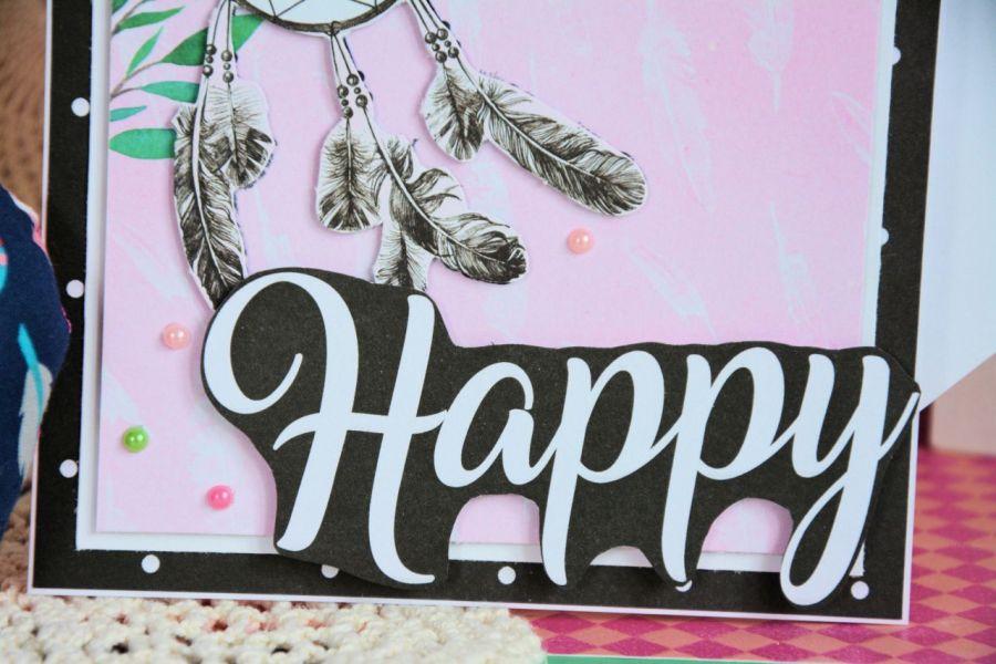 Kartka - Happy!  ( 1 )