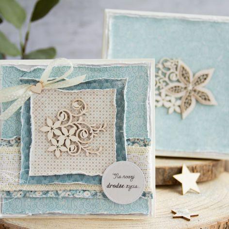 Kartka ślubna w pudełku. Personalizacja (s07)