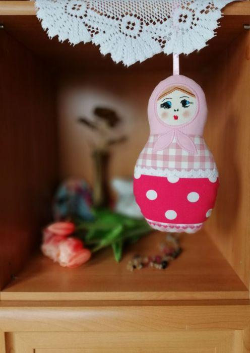 Matrioszka różowa -