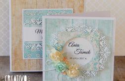 Na ślub w pudełku - w turkusach i beżach