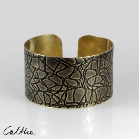 Pajęczyna – mosiężna bransoleta 2108-01