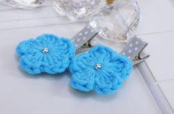 spinki handmade 2 szt. kwiatki4