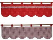 zazdrostka dwustronna czerwona w goszki i biała w kawiatuszki