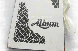 Album harmonijkowy czarno-kremowy