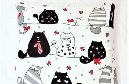 poduszka z łuską gryki i lawendą koty