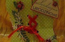 Kartka urodzinowa-gorset