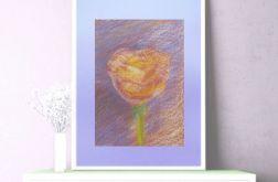 Rysunek kwiat na fioletowym tle nr 4-obrazek