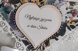 Kartka ślubna kopertowa kopertówka