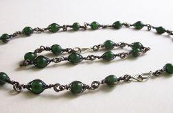 Komplet z zielonym jadeitem - naszyjnik i bransoleta