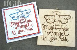 obrazek i kartka 15x15cm aniołek