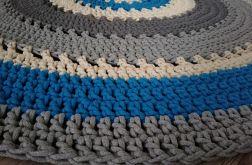 Bawełniany okrągły dywan 135 cm