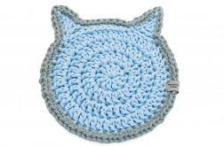 Podkładka pod talerz kot błękitno szary