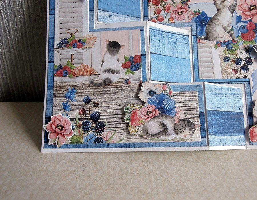 Kartka z kotkami - Lewy róg