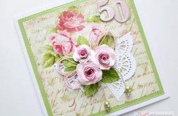 Kartka URODZINOWA z różami #1