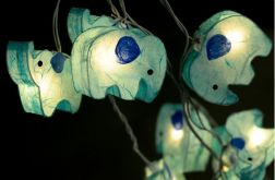 Lampki Girlanda Zoo Słonie