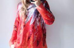 Sweter z kapturem oversize boho 01