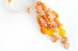 4976 długi naszyjnik pomarańczowy
