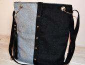 Rockowa torba / listonoszka z frędzlem