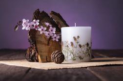 Dla Mamy-świeca z naturalnymi kwiatami-konicz