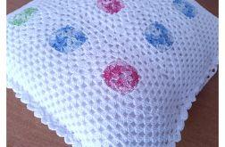 25 szydełkowa biała poszewka na poduszkę