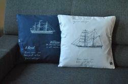 Poszewka - marine, żaglowce,  żeglarstwo białe