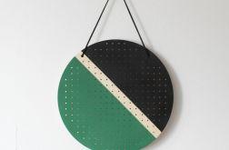 GREEN BLACK wiszący organizer na kolczyki