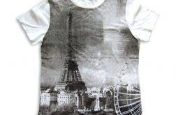 rozmiar M Koszulka  z widokiem Paryża