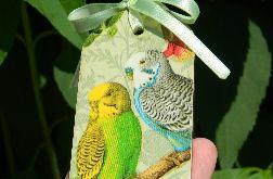 Zakładka do książki papużki faliste, papugi