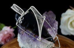 Srebrny wisior ze smoczym szkłem obsydianem