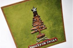 Kartka bożonarodzeniowa-choinka