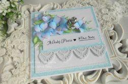 Ślubna kartka w pudełku 59