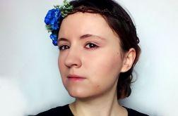 Niebieski wianek ślubny rustykalny