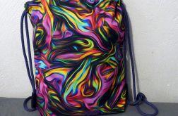 Worek - plecak Abstrakcja różowa