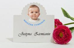 Winietki na stół na chrzest,roczek,jubileusz ze zdjęciem