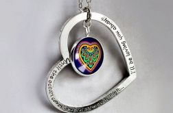 FOLK HEART IN HEARTserce i wisiorek z grafiką