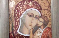 Ikona Matki Bożej w ramie
