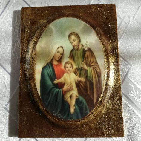 Ikona decoupage - Najświętsza rodzina