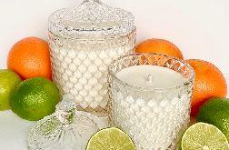 Naturalna świeca sojowa Crystal 550 ml