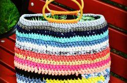 Torba ze sznurka kolorowa hand made