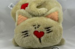 Poduszka - kot z pluszu