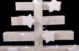 Biała drewniana w stylu skandynawskim LED