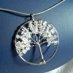 Drzewko szczęścia z kryształem, wire wrapping -