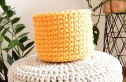 Koszyk 10x9cm,sznurek bawełniany,żółty,szary.